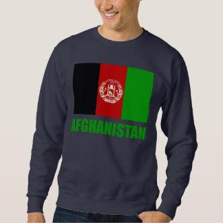 Text för Afghanistan flaggagrönt Långärmad Tröja