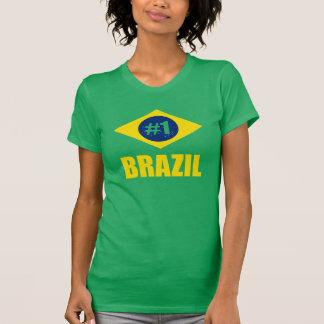 Text för Brasilien #1 flaggagult T-shirt