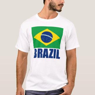 Text för Brasilien flaggablått T-shirt