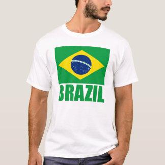 Text för Brasilien flaggagrönt Tee