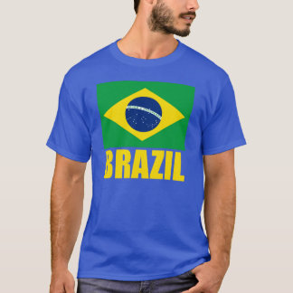 Text för Brasilien flaggagult Tee