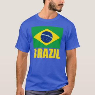 Text för Brasilien flaggagult Tee Shirt