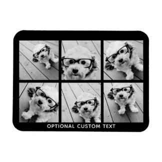 Text för Collage för 6 foto valfri -- KAN redigera Magnet