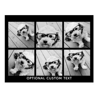 Text för Collage för 6 foto valfri -- KAN redigera Vykort