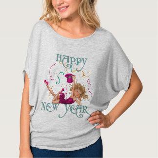 Text för glitter för partyflickagott nytt år tshirts