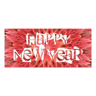 Text för gott nytt år för blomma för reklamkort