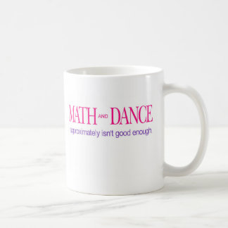 Text för math- och dans_-färg kaffemugg