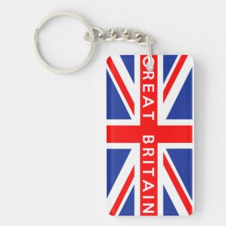 text för namn för symbol för Great Britain Nyckelring
