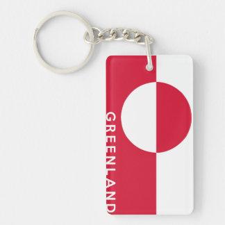 text för namn för symbol för greenland landflagga nyckelring