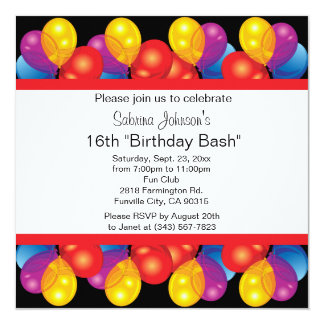 Text för sweet sixteenpartyfirande | DIY Fyrkantigt 13,3 Cm Inbjudningskort
