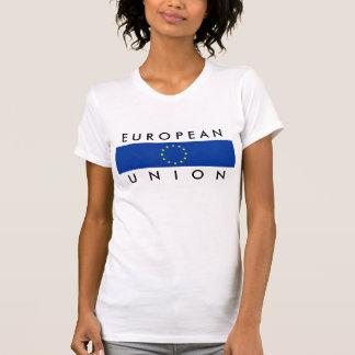 text för symbol för nation för Europeiska Tee Shirt