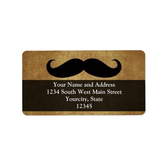 Text för vintageMoustache w/Custom Adressetikett
