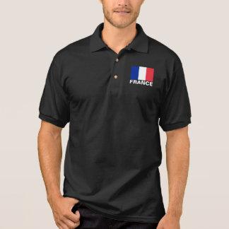 Text för vit för frankrikeflaggaanpassade tenniströja