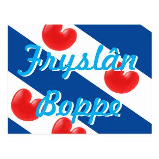 Text Fryslan Boppe för Frisianflaggaanpassade Vykort