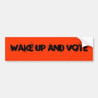 text: vakna upp och rösta bildekal