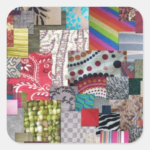 Textilar Fyrkantiga Klistermärken