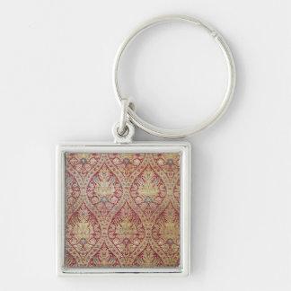 Textildesign, 16th/17. århundrade fyrkantig silverfärgad nyckelring
