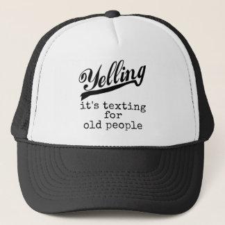 Texting för gamla människor keps