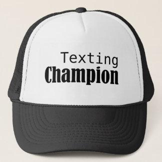 Texting mästare keps