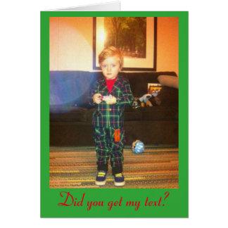Texting småbarn i grönt kort för plädkostymhelgdag