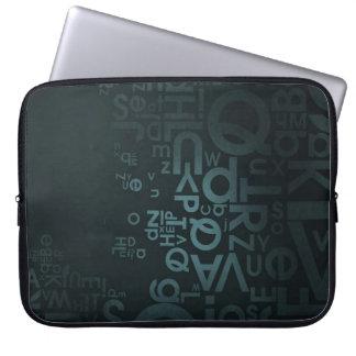 _texture_surface_dark_letters_ laptop sleeve