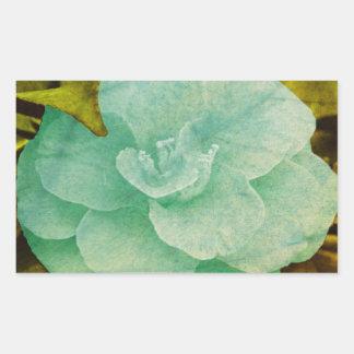 Texturerad blomma av Shirley Taylor Rektangulärt Klistermärke