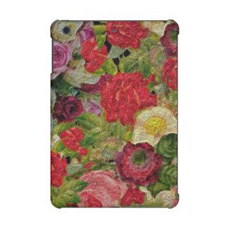 Texturerad blomsterträdgård