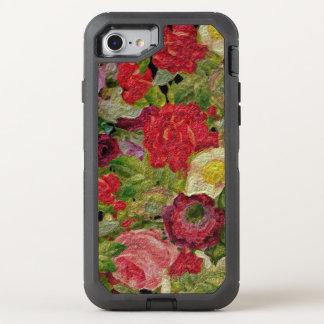 Texturerad blomsterträdgård OtterBox defender iPhone 7 skal
