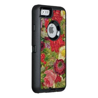 Texturerad blomsterträdgård OtterBox defender iPhone skal