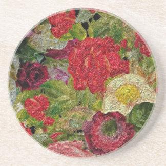 Texturerad blomsterträdgård underlägg