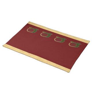 Texturerad bordstablett för äpplen (cranberry)