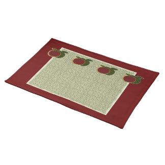 Texturerad bordstablett för äpplen (cranberry/vis