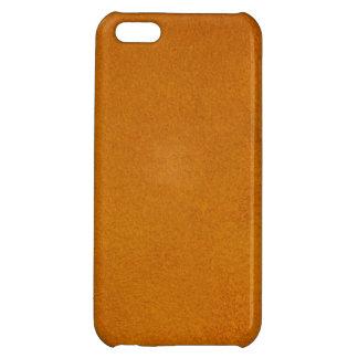 Texturerad bränd orange iPhone 5C mobil skal