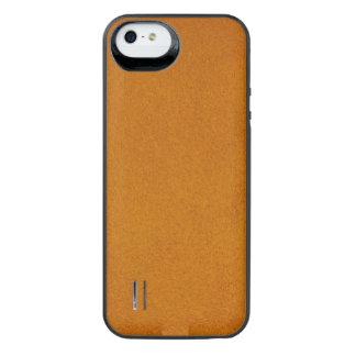 Texturerad bränd orange iPhone SE/5/5s batteri skal