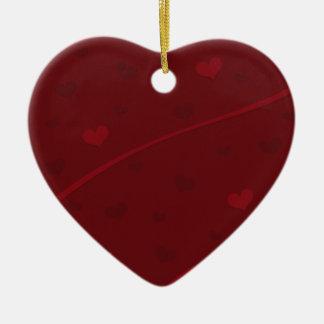 Texturerad hjärtajulprydnad julgransprydnad keramik
