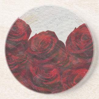 Texturerad röd rosolja underlägg sandsten
