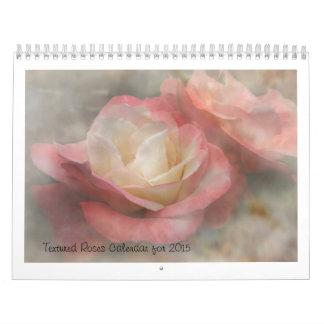 Texturerad rokalender för 2015 kalender