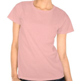Texturerad rosa ros och knopp t shirt