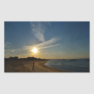 Texturerad solnedgång av Shirley Taylor Rektangulärt Klistermärke