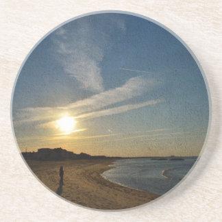 Texturerad solnedgång av Shirley Taylor Underlägg Sandsten