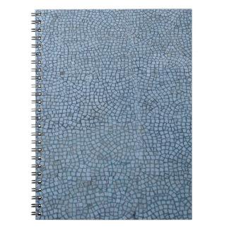 Texturerade blått anteckningsbok