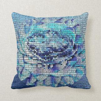 Texturerade blått steg kudde
