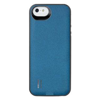 Texturerade djupa havblått iPhone SE/5/5s batteri skal