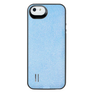 Texturerade himmelblått iPhone SE/5/5s batteri skal