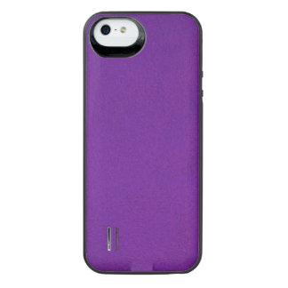 Texturerade kungliga lilor iPhone SE/5/5s batteri skal