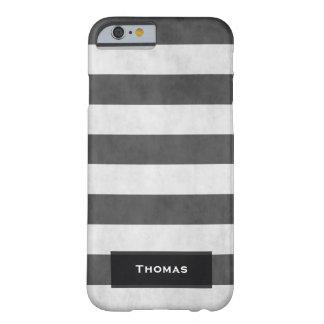 Texturerade svartvita randar för kall vintage barely there iPhone 6 skal