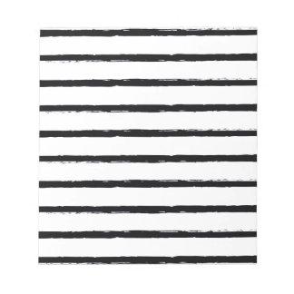 Texturerat för vitbuse för randar svart mönster anteckningsblock