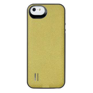 Texturerat guld- iPhone SE/5/5s batteri skal