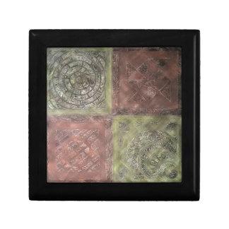 Texturerat kvadrerar smyckeskrin