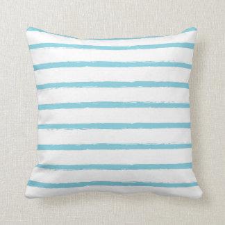 Texturerat modernt för blått för randlinjerhimmel kudde